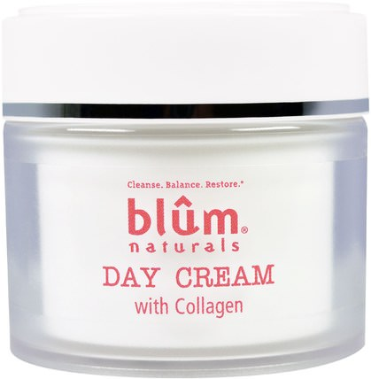 Day Cream with Collagen, 1.69 oz (50 ml) by Blum Naturals, 美容,面部護理,面霜,乳液 HK 香港