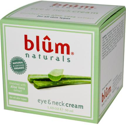 Eye & Neck Cream, 1.69 oz (50 ml) by Blum Naturals, 美容,面部護理,面霜,乳液,抗皺霜,皮膚 HK 香港