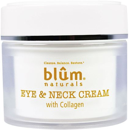 Eye & Neck Cream with Collagen, 1.69 oz (50 ml) by Blum Naturals, 美容,眼霜,面部護理,面霜,乳液 HK 香港