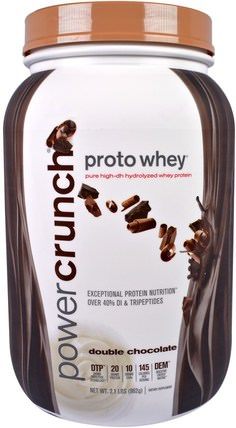 Proto Whey, Pure High-DH Hydrolyzed Whey Protein, Double Chocolate, 2.1 lbs (962 g) by BNRG, 補充劑,乳清蛋白 HK 香港