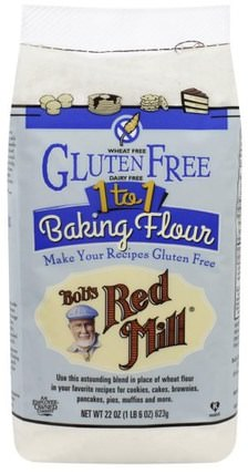 1 to 1 Baking Flour, 22 oz (623 g) by Bobs Red Mill, 食物,麵粉和混合物,糙米粉 HK 香港