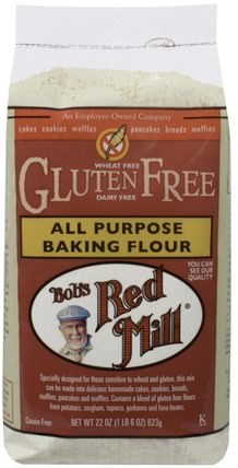 All Purpose Baking Flour, Gluten Free, 22 oz (623 g) by Bobs Red Mill, 食物,麵粉和混合物,鷹嘴豆粉 HK 香港