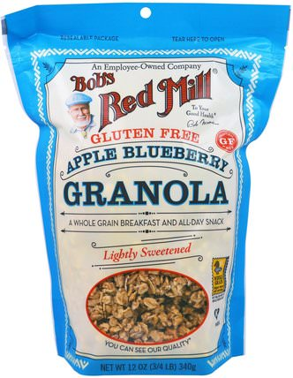 Apple Blueberry Granola, Gluten Free, 12 oz (340 g) by Bobs Red Mill, 食物,食物,穀物 HK 香港