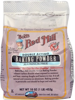 Baking Powder, Gluten Free, 16 oz (453 g) by Bobs Red Mill, 食品,烘焙助劑,發酵粉 HK 香港