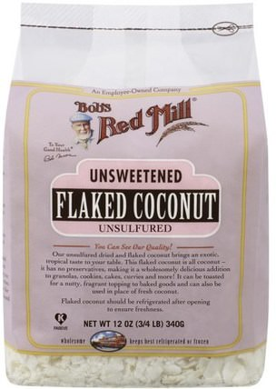 Flaked Coconut, Unsweetened, 12 oz (340 g) by Bobs Red Mill, 食物,乾果,椰子整個 HK 香港