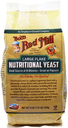Large Flake Nutritional Food Yeast, 8 oz (226 g) by Bobs Red Mill, 食品,烘焙助劑 HK 香港