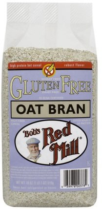 Oat Bran, Gluten Free, 18 oz (510 g) by Bobs Red Mill, 補充劑,纖維,燕麥麩,食品,食品,穀物 HK 香港