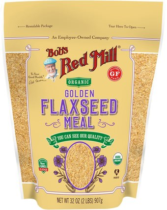 Organic Golden Flaxseed Meal, 32 oz (907 g) by Bobs Red Mill, 補充劑,亞麻籽 HK 香港