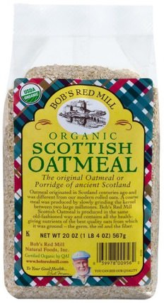 Organic Scottish Oatmeal, 20 oz (567 g) by Bobs Red Mill, 食品,食品,燕麥燕麥片,穀類食品 HK 香港