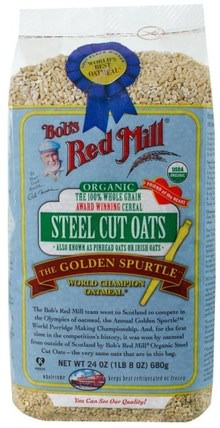 Organic Steel Cut Oats, 24 oz (680 g) by Bobs Red Mill, 食品,食品,燕麥燕麥片,穀類食品 HK 香港