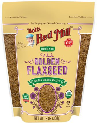 Organic Whole Golden Flaxseed, 13 oz (368 g) by Bobs Red Mill, 補充劑,亞麻籽 HK 香港