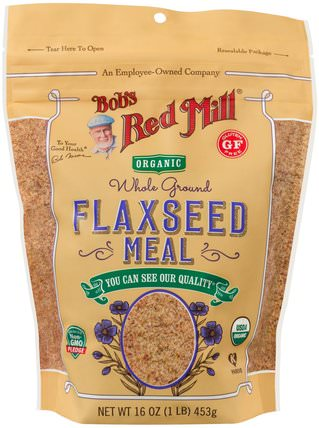 Organic Whole Ground Flaxseed Meal, 16 oz (453 g) by Bobs Red Mill, 補充劑,亞麻籽 HK 香港