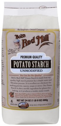 Potato Starch, Unmodified, 24 oz (680 g) by Bobs Red Mill, 食品,烘焙助劑 HK 香港