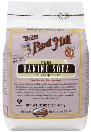 Pure Baking Soda, Gluten Free, 16 oz (453 g) by Bobs Red Mill, 食品,烘焙助劑 HK 香港
