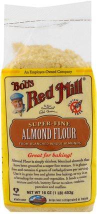 Super-Fine Almond Flour, Gluten-Free, 16 oz (453 g) by Bobs Red Mill, 食物,麵粉和混合物,杏仁粉 HK 香港