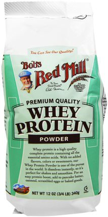Whey Protein Powder, 12 oz (340 g) by Bobs Red Mill, 補充劑,乳清蛋白 HK 香港