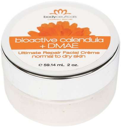 Ultimate Repair Facial Creme, Bioactive Calendula + DMAE, 2 oz (59.14 ml) by Bodyceuticals Calendula Skincare, 美容,面部護理,面霜,乳液 HK 香港