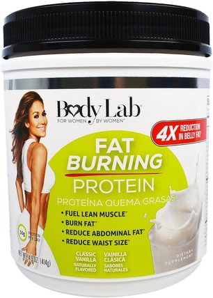 Fat Burning Protein, Classic Vanilla, 14.6 oz (414 g) by BodyLab, 補充劑,蛋白質,脂肪燃燒器 HK 香港
