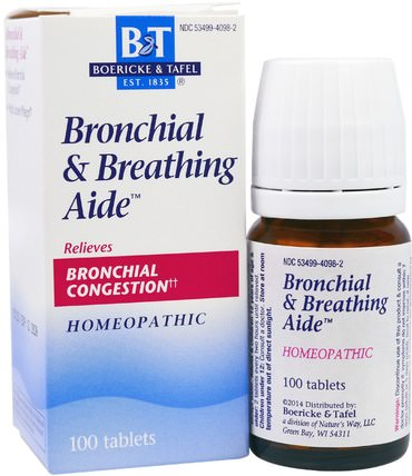 Broncial & Breathing Aide, 100 Tablets by Boericke & Tafel, 健康,哮喘 HK 香港