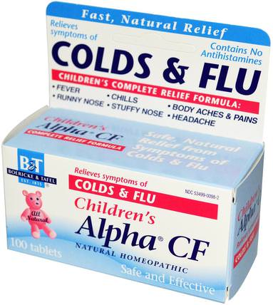 Childrens Alpha CF, 100 Tablets by Boericke & Tafel, 兒童健康,感冒流感咳嗽,感冒流感和病毒,感冒和流感 HK 香港