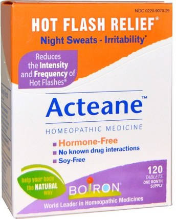 Acteane, 120 Tablets by Boiron, 健康,女性,更年期,補品,順勢療法女性 HK 香港
