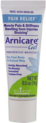 Arnicare Gel, Pain Relief, Unscented, 0.5 oz (14 g) by Boiron, 山金車 HK 香港