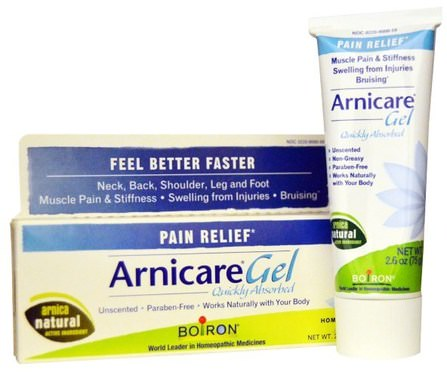 Arnicare Gel, Pain Relief, Unscented, 2.6 oz (75 g) by Boiron, 草藥,山金車蒙大拿,青紫,挫傷 HK 香港