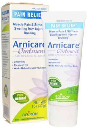 Arnicare Ointment, Pain Relief, Unscented, 1 oz (30 g) by Boiron, 草藥,山金車蒙大拿,痛苦創傷 HK 香港
