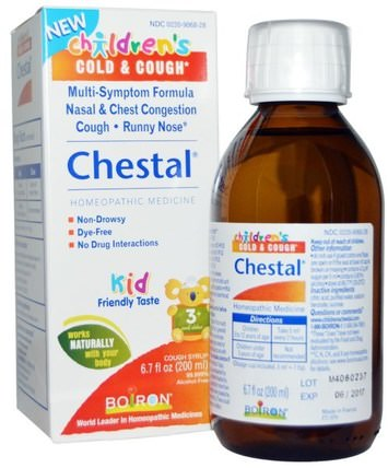 Chestal, Childrens Cold & Cough, 6.7 fl oz (200 ml) by Boiron, 兒童健康,感冒感冒咳嗽,兒童 HK 香港