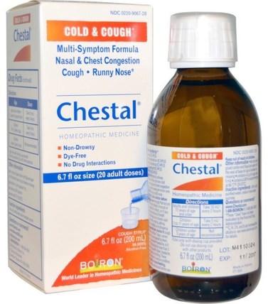 Chestal, Cold & Cough, 6.7 fl oz (200 ml) by Boiron, 健康,感冒流感和病毒,止咳糖漿,補品,順勢療法咳嗽感冒和流感 HK 香港
