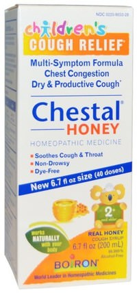 Chestal Honey, Childrens Cough Relief, 6.7 fl oz (200 ml) by Boiron, 兒童健康,感冒感冒咳嗽,兒童 HK 香港