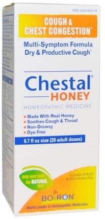 Chestal Honey, Cough & Chest Congestion, 6.7 fl oz by Boiron, 健康,感冒流感和病毒,止咳糖漿,補品,順勢療法咳嗽感冒和流感 HK 香港