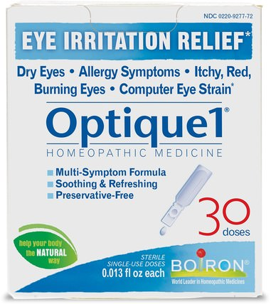 Optique 1, Eye Irritation Relief, 30 Doses, 0.013 fl oz Each by Boiron, 健康,眼部護理,視力保健,滴眼液,鼻竇和過敏 HK 香港