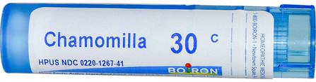 Single Remedies, Chamomilla, 30C, Approx 80 Pellets by Boiron, 感冒和流感,孩子們 HK 香港