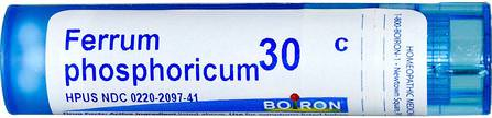 Single Remedies, Ferrum Phosphoricum, 30C, 80 Pellets by Boiron, 感冒和流感,循環 HK 香港