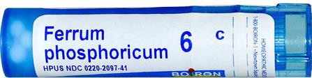 Single Remedies, Ferrum Phosphoricum, 6C, 80 Pellets by Boiron, 感冒和流感,循環 HK 香港