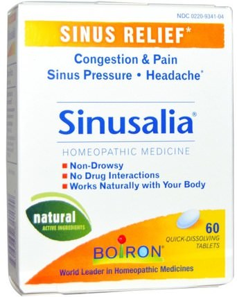 Sinusalia, 60 Quick-Dissolving Tablets by Boiron, 健康,鼻腔健康,鼻腔,鼻竇和過敏 HK 香港