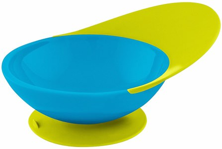 Catch Bowl, Toddler Bowl with Spill Catcher, 9 + Months, Blue/Green, 1 Bowl by Boon, 兒童健康,兒童食品,廚具,杯碟碗 HK 香港