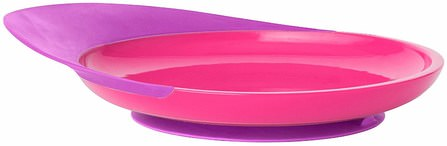 Catch Plate, Toddler Plate with Spill Catcher, 9 + Months, Purple/Pink, 1 Plate by Boon, 兒童健康,兒童食品,廚具,杯碟碗 HK 香港