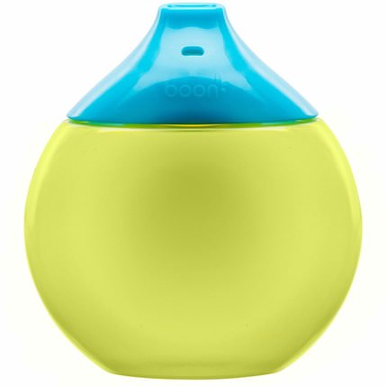 Fluid, Sippy Cup, 9 + Months, Blue / Green, 1 Sippy Cup by Boon, 兒童健康,兒童食品,嬰兒餵養,吸管杯 HK 香港