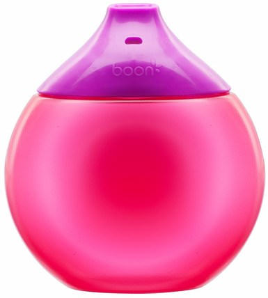 Fluid, Sippy Cup, 9 + Months, Purple / Pink, 1 Sippy Cup by Boon, 兒童健康,兒童食品,嬰兒餵養,吸管杯 HK 香港