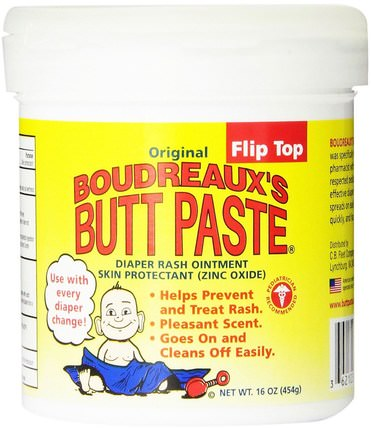 Original Butt Paste, Diaper Rash Ointment, 16 oz (454 g) by Boudreauxs, 兒童健康,尿布,尿布霜 HK 香港