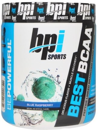 Best BCAA, Blue Raspberry, 10.58 oz (300 g) by BPI Sports, 補充劑,氨基酸,bpi運動肌肉,bcaa(支鏈氨基酸) HK 香港