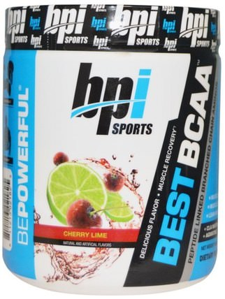 Best BCAA, Cherry Lime, 10.58 oz (300 g) by BPI Sports, 補充劑,氨基酸,bpi運動肌肉,bcaa(支鏈氨基酸) HK 香港