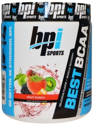 Best BCAA, Fruit Punch, 10.58 oz (300 g) by BPI Sports, 補充劑,氨基酸,bpi運動肌肉,bcaa(支鏈氨基酸) HK 香港