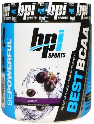 Best BCAA, Grape, 10.58 oz (300 g) by BPI Sports, 補充劑,氨基酸,bpi運動肌肉,bcaa(支鏈氨基酸) HK 香港