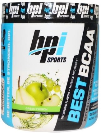 Best BCAA, Green Fusion, 10.58 oz (300 g) by BPI Sports, 補充劑,氨基酸,bpi運動肌肉,bcaa(支鏈氨基酸) HK 香港