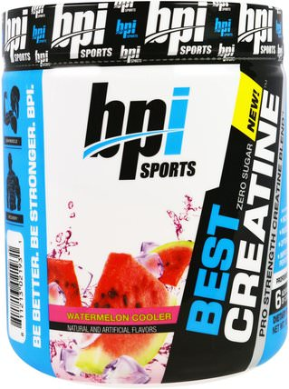 Best Creatine, Pro Strength Creatine Blend, Watermelon Cooler, 10.58 oz (300 g) by BPI Sports, 運動,肌酸,鍛煉 HK 香港