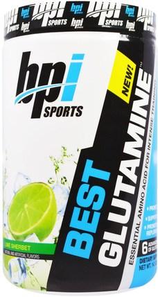 Best Glutamine. Essential Amino Acid, Lime Sherbet, 14.1 oz (400 g) by BPI Sports, 健康 HK 香港