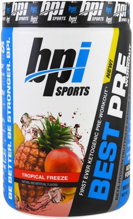 Best Pre Workout, Tropical Freeze, 11.11 oz (315 g) by BPI Sports, 健康,能量,運動 HK 香港